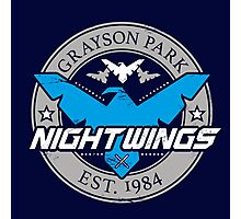 Grayson Park Nightwings Grey Blue (02 of 04) Photographic Print