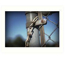 Chain Link Fence Art Print