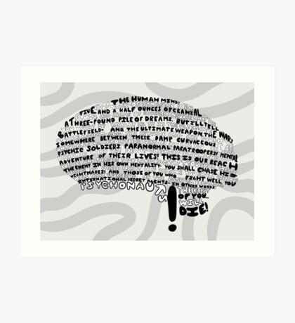 The Human Mind Art Print