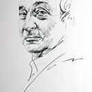 NIck Mason (Pink Floyd drummer) Drawing by Melissa Mailer-Yates