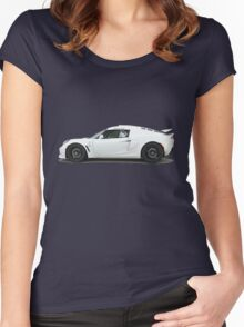 Stormtrooper driving a car Women's Fitted Scoop T-Shirt