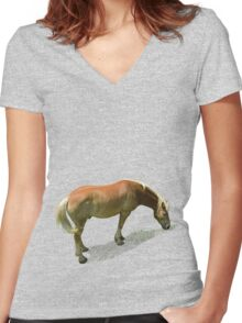 Horse from Kristberg (T-Shirt & iPhone case) Women's Fitted V-Neck T-Shirt