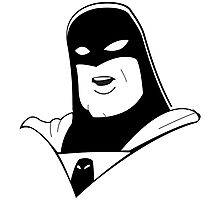 Space Ghost Black and White Photographic Print