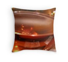 Wine Refections Throw Pillow