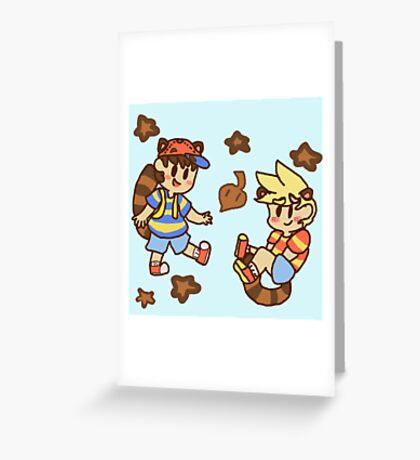 Tanooki cuties Greeting Card