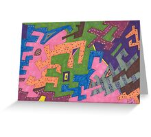 Wild Life Abstract  Greeting Card