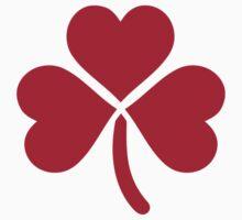 Shamrock red hearts Baby Tee