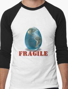 Earth-Fragile Men's Baseball ¾ T-Shirt