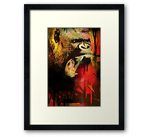 Graffiti Gorilla Framed Print