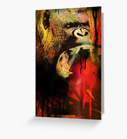 Graffiti Gorilla Greeting Card
