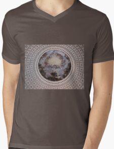 United States Capitol Dome Fresco Mens V-Neck T-Shirt