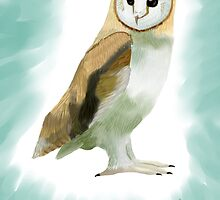 Barn Owl by Blacklightco