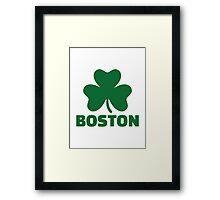 Boston shamrock Framed Print