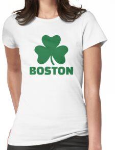 Boston shamrock Womens Fitted T-Shirt