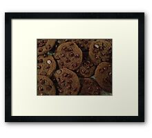 Double Chocolate Chip Cookies Framed Print