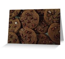 Double Chocolate Chip Cookies Greeting Card