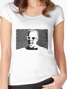 Max Headroom Women's Fitted Scoop T-Shirt