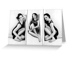 Anxiety 1 - Triptych - Self Portrait Greeting Card