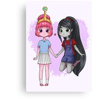 Adventure Time - Bubbline Cuties Canvas Print