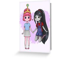 Adventure Time - Bubbline Cuties Greeting Card