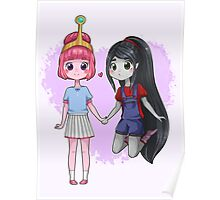 Adventure Time - Bubbline Cuties Poster