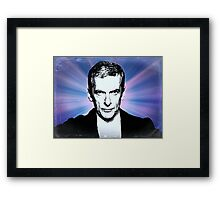 Dr Who Peter Capaldi Poster Sketch Framed Print