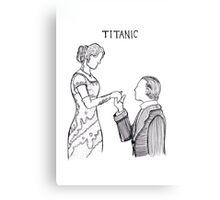 Titanic Jack and Rose Line Drawing Metal Print