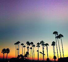 malibu sunset by almasantam