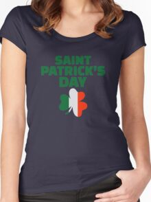 St. Patrick's day ireland flag Women's Fitted Scoop T-Shirt