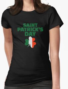 St. Patrick's day ireland flag Womens Fitted T-Shirt