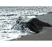 Foamy Stone Photographic Print