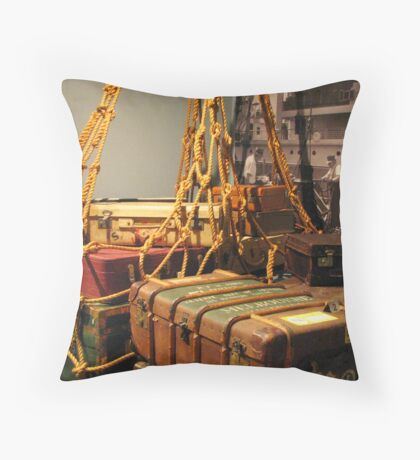On to Australia from all corners of the Globe Throw Pillow