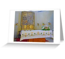 Altar in Jak Church Greeting Card