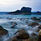 Dusk At Seaside by Steven  Siow