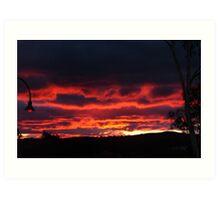 """""""Firey Sky"""" at Gungahlin (Australian Capital Territory) Art Print"""