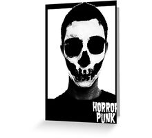 Horror Punk Skullface Greeting Card