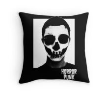 Horror Punk Skullface Throw Pillow