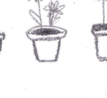 Plants are Friends (black and white) Sticker