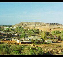 desert view with slag heap by Juilee  Pryor