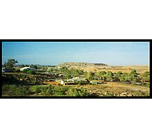 desert view with slag heap Photographic Print