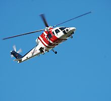 Rescue Helicopter - Newcastle Hunter Region by Bev Woodman