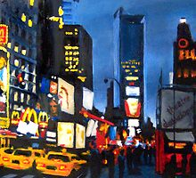NYC III Times Square in Blue by Robert Reeves