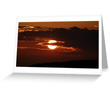 Lancashire Sunset Greeting Card