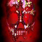 Day of the Dead Skull and Fire by NaturePrints