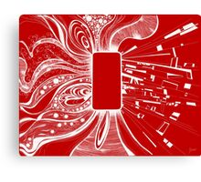 Mobile - Red Canvas Print