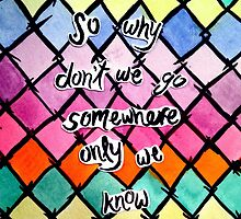 Keane Somewhere Only We Know Lyrics by Claire Coleman