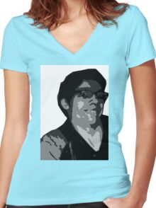 The Recliner Cast Logan! Women's Fitted V-Neck T-Shirt