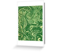 Green Swirls Greeting Card