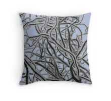 Snow Branches Throw Pillow