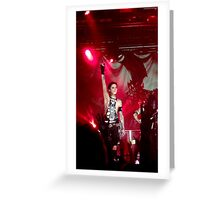 Andy Biersack of Black Veil Brides Greeting Card